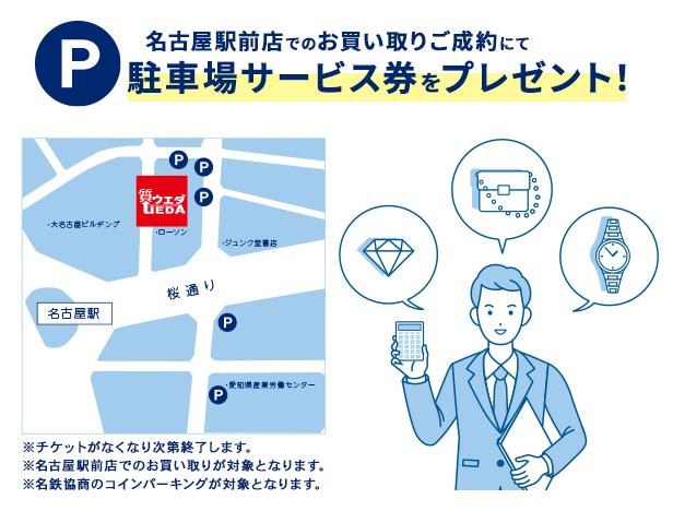 駐車場チケットプレゼントキャンペーン@名古屋駅前店