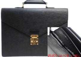 ルイヴィトン エピ ノワール アンバサダー 書類鞄 M54412